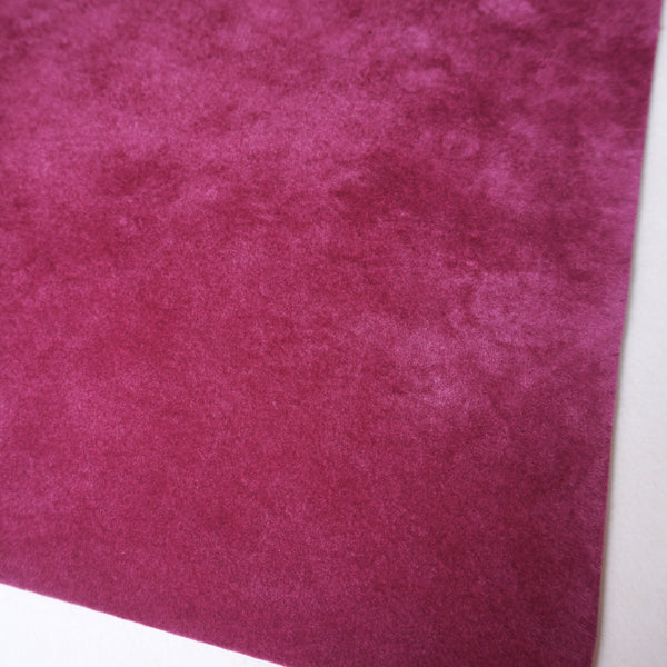 Berry Velour Fabric Sheet