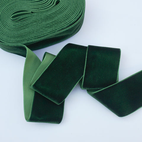 Evergreen Velvet Ribbon - 1 and a Half Inch