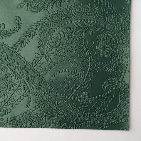 Evergreen Lace Embossed Faux Leather