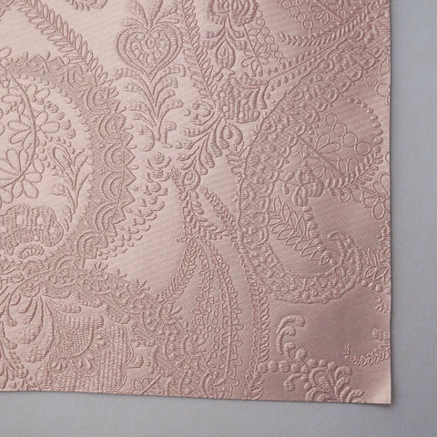 Rose Gold Lace Embossed Faux Leather