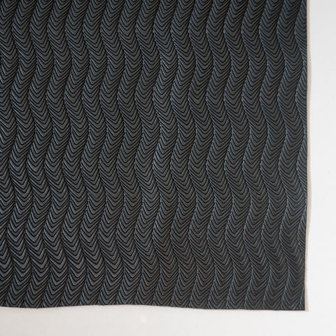 Black Groovy Chevron Embossed Faux Leather