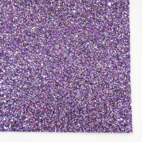 Lavender Fields Premium Chunky Glitter Fabric Sheet