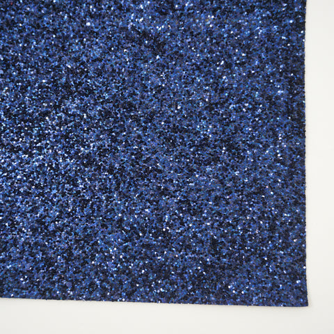 Navy Blue Premium Glitter Fabric Sheet