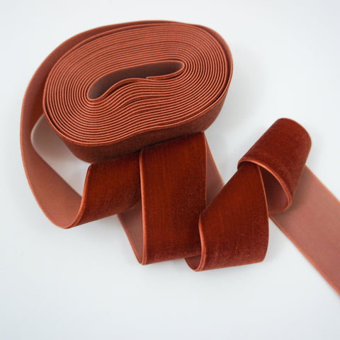 Cinnamon Velvet Ribbon - 1 and a Half Inch