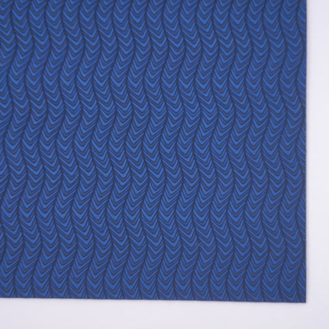 Navy Groovy Chevron Embossed Faux Leather