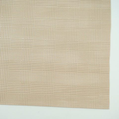 Ivory Plaid Embossed Faux Leather