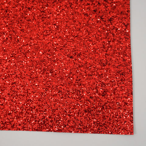 Red Premium Glitter Fabric Sheet