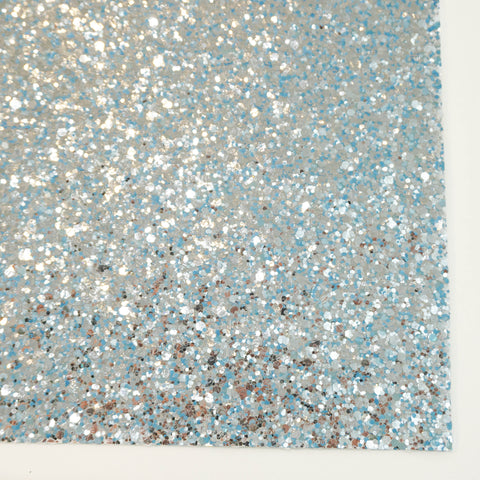 Neon Blue Glam Specialty Glitter Fabric Sheet