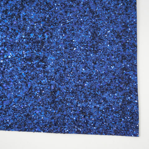 Navy Blue Premium Glitter Fabric Sheet - TWILL BACKING