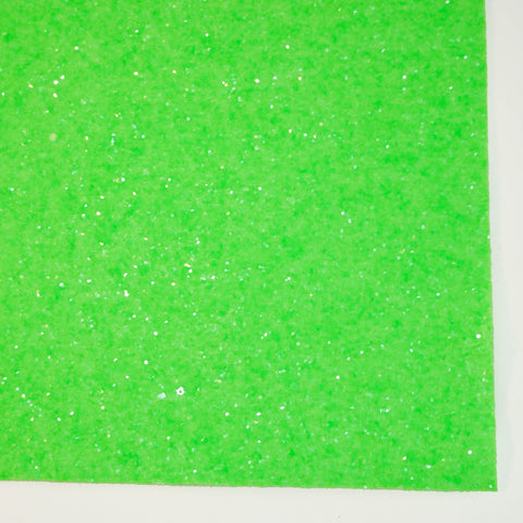 Neon Green Glass Premium Glitter Fabric Sheet