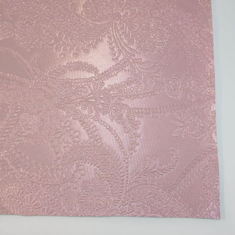 Light Pink Lace Embossed Faux Leather