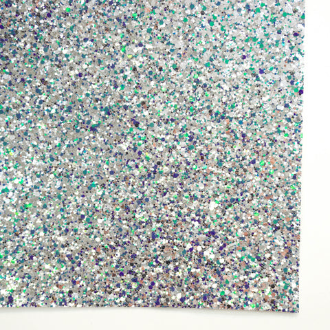 Sea Goddess Neon Glam Specialty Glitter Fabric Sheet