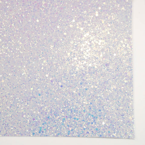 White Frost Sherbet Specialty Glitter Fabric Sheet