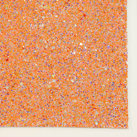 Orange Crush Specialty Glitter Fabric Sheet