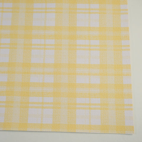 Butter Tartan Plaid Faux Leather