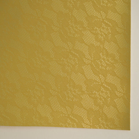 Old Gold Matte Lace Embossed Faux Leather