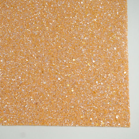 Peach Sherbet Specialty Glitter Fabric Sheet