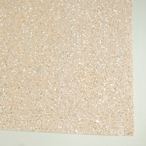 Cream Sherbet Specialty Glitter Fabric Sheet