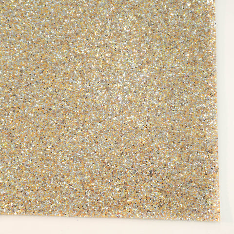 Gold Party Popper Specialty Glitter Fabric Sheet