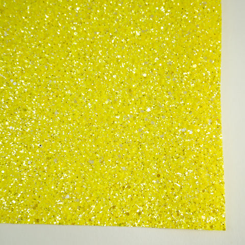 Yellow Sherbet Specialty Glitter Fabric Sheet