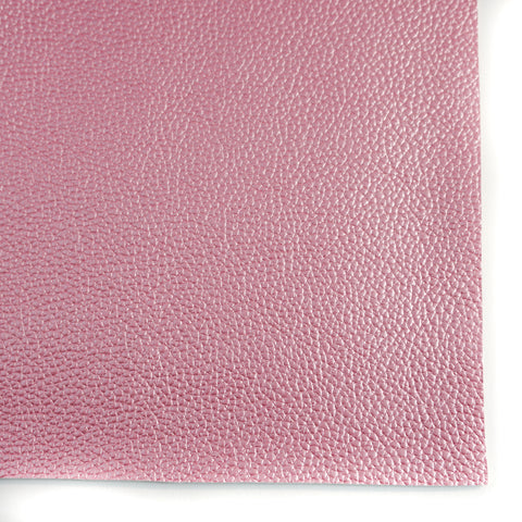 Pink Metallic Textured Faux Leather