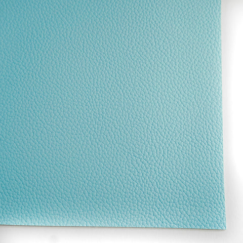 Sky Blue Textured Faux Leather