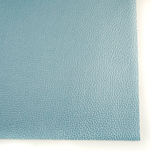 Baby Blue Metallic Textured Faux Leather
