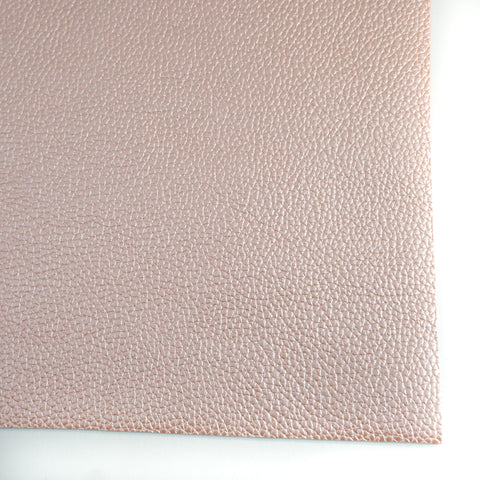 Peach Metallic Textured Faux Leather