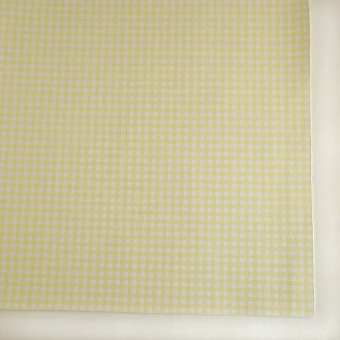 Yellow Pastel Gingham Plaid Faux Leather