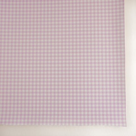 Lavender Pastel Gingham Plaid Faux Leather