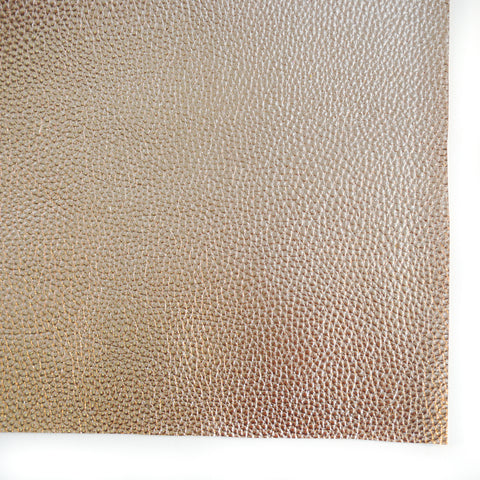 Rose Gold Foil Metallic Textured Faux Leather