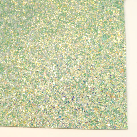 Ice Blue Iridescent Chunky Tinsel Specialty Glitter Fabric Sheet