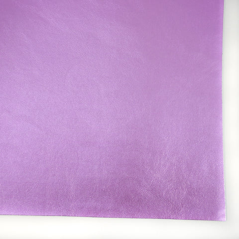 Lavender Metallic Foil Smooth Faux Leather
