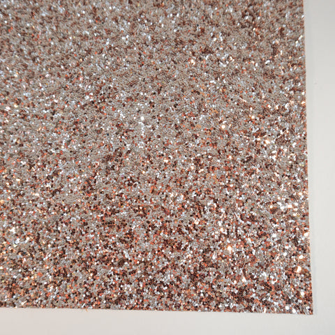 The Ultimate Rose Gold Specialty Glitter Fabric Sheet -TWILL BACK