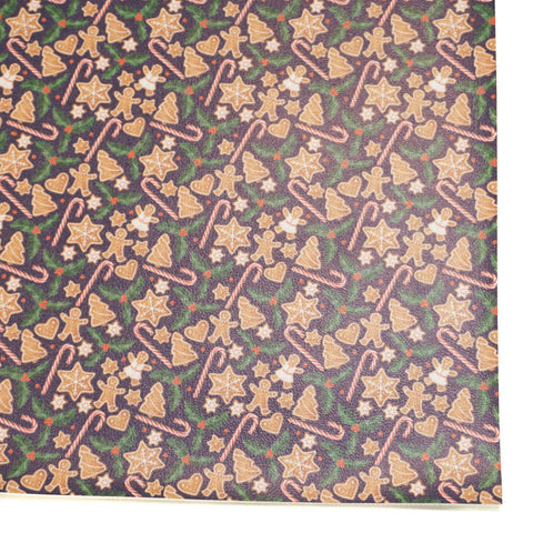 Gingerbread Cookies Faux Leather