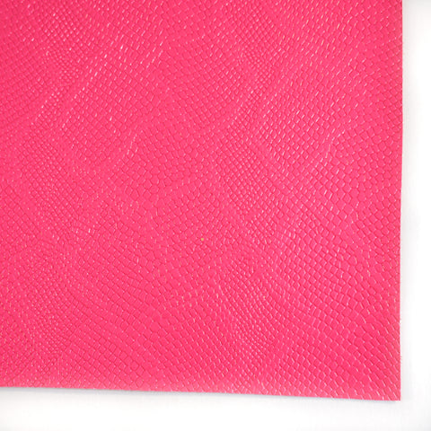 Neon Pink Snakeskin Faux Leather
