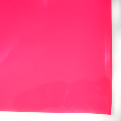 Neon Pink Patent Vegan Faux Leather