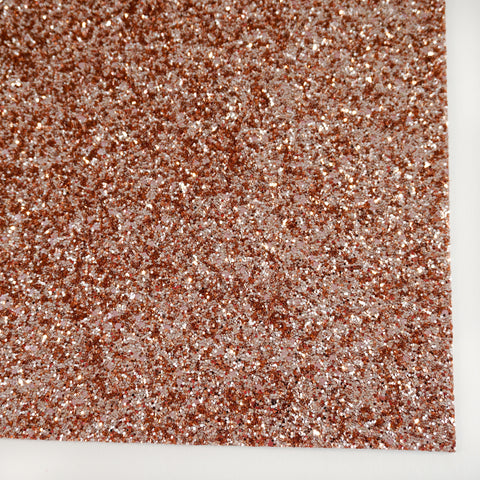 Bright Rose Gold Specialty Glitter Fabric Sheet