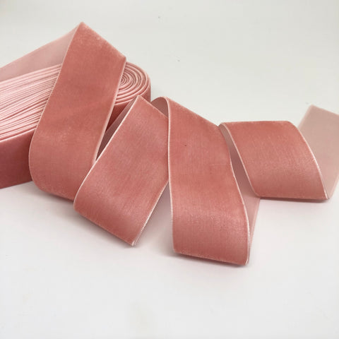 Blush Velvet Ribbon - 1 and a Half Inch