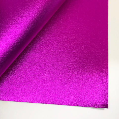 Radiant Pink Metallic 100% Wool Felt - 9.5x12""