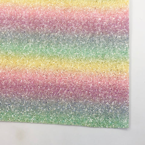 Pastel Rainbow Sherbet Specialty Glitter Fabric Sheet