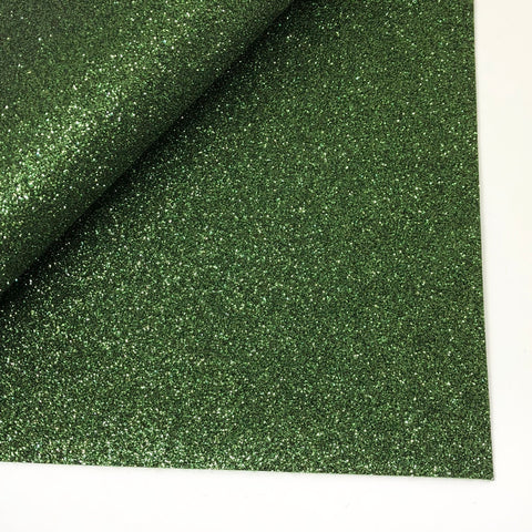 Dark Green Glitter 100% Wool Felt - 9.5x12""