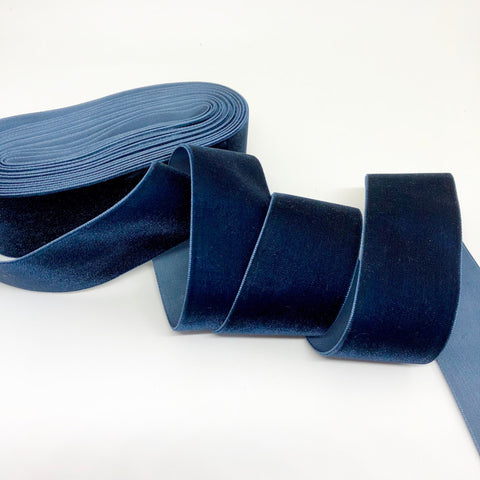 Navy Velvet Ribbon - 1 and a Half Inch