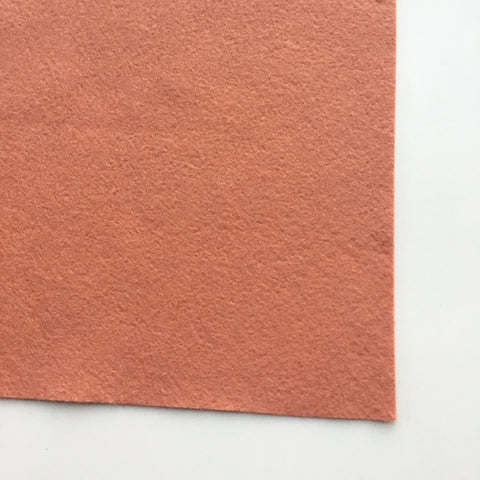 Pink Grapefruit Wool Blend Felt