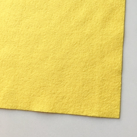 Banana Cream Wool Blend Felt