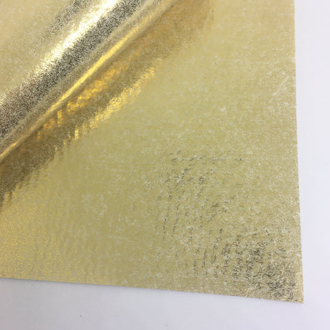 Metallic Gold 100% Wool Felt - 8x12""