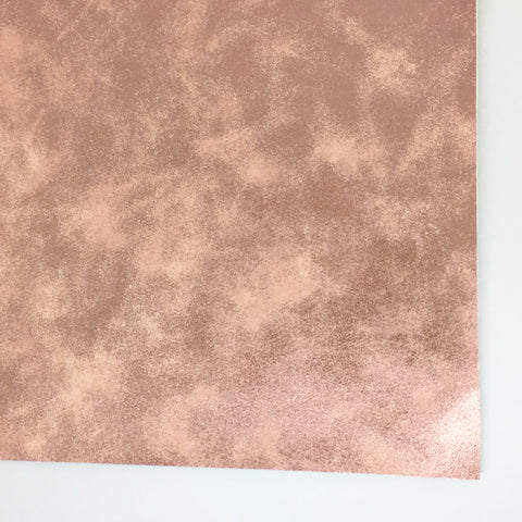 Blush Metallic Patina Smooth Faux Leather