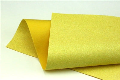 Iridescent Yellow Glitter 100% Wool Felt - 9.5x12""
