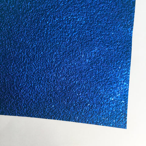 Druzy Cobalt Blue Faux Leather