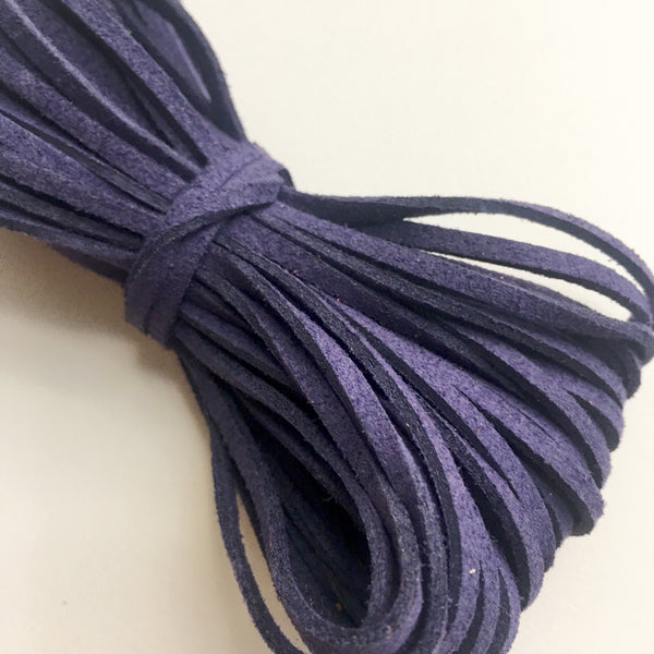 Navy Suede Cord